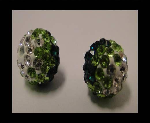 Shamballa-12mm-Tri Emerald