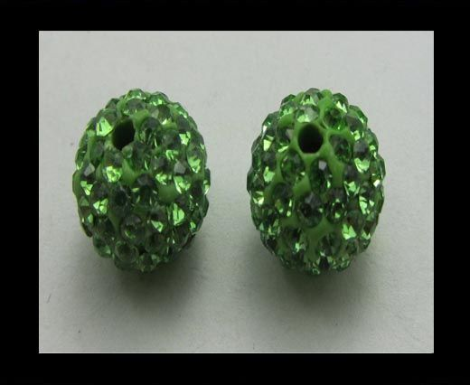 Shamballa-Bead-10mm-Peridot