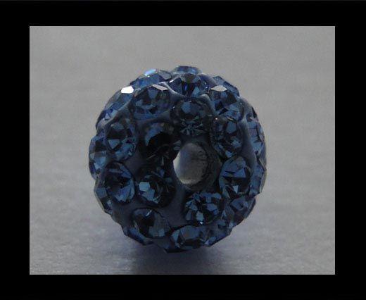 Shamballa-Bead-6mm-Light Saphire