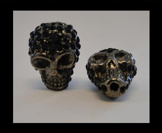 Shamballa Skull-Black
