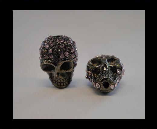 Shamballa Skull-Pink