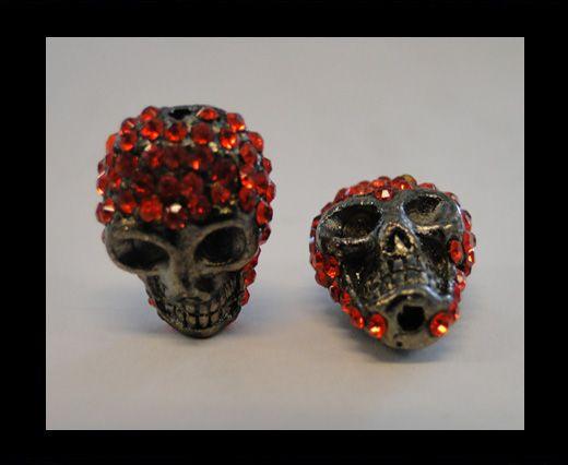 Shamballa Skull-Red