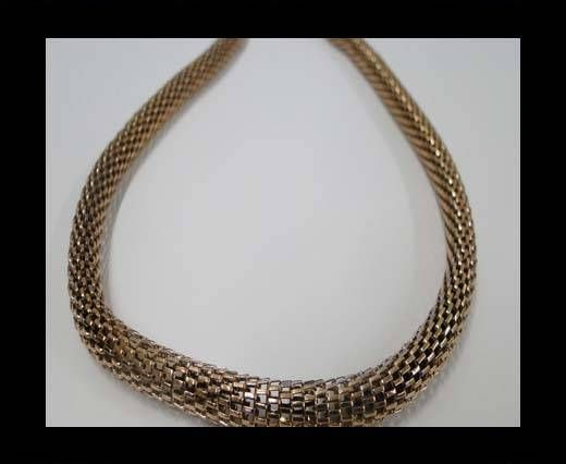 Stainless Steel Chain Item-10-6mm Rose Gold