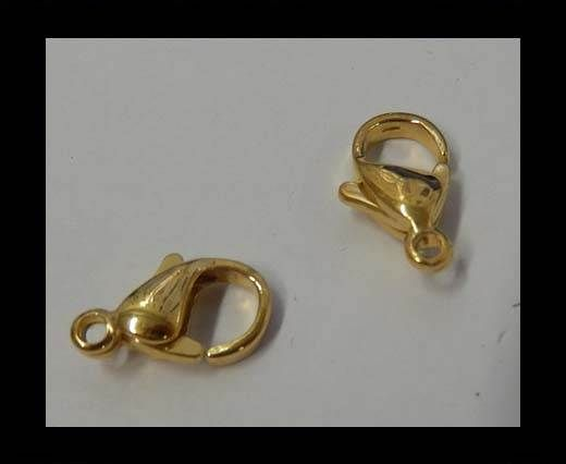 Steel fish lock 10mm Gold