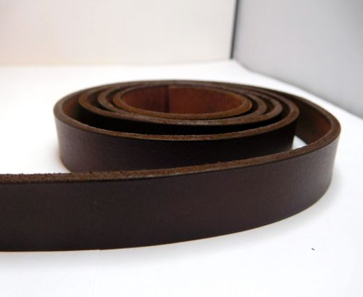 Vintage Style Flat Leather-14mm-Tan