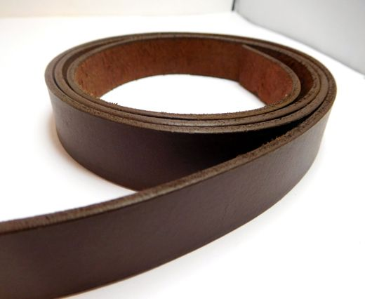 Vintage Style Flat Leather-20mm-Tan