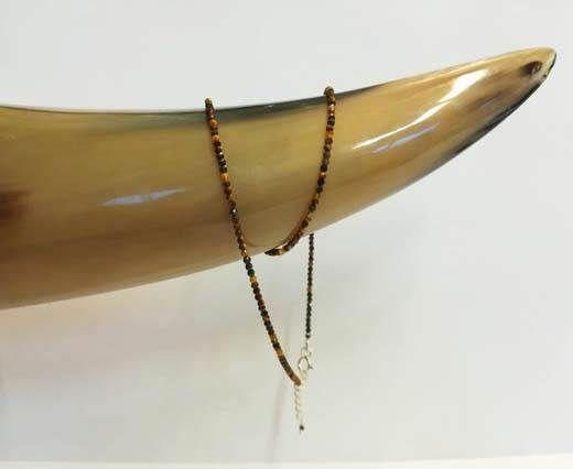2mm-Gemstone-Necklace-TIGER EYE