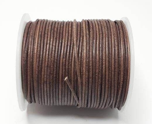 Round Leather Cord-1,5mm-vintage Cognac