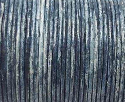 Round Leather Cord SE/R/Vintage Blue-2mm