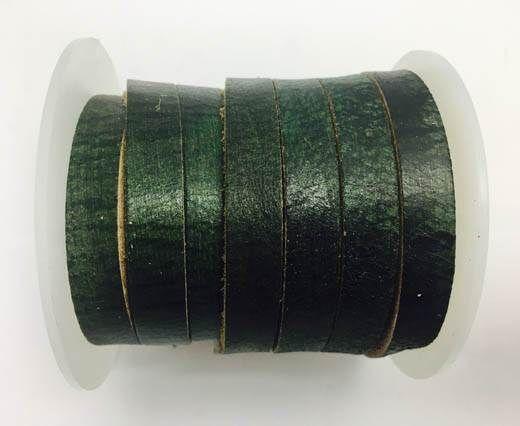 Latigo Lace 10mm by 3mm  - Vintage green