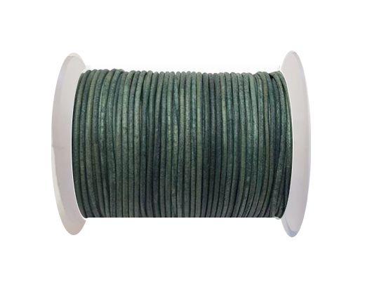 Cordoncino di cuoio-1.5mm - SE/R/Vintage Verde