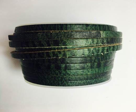 Latigo Lace 5mm by 3mm  - Vintage green