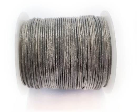 Round Leather Cord -1mm- SE Vintage Grey