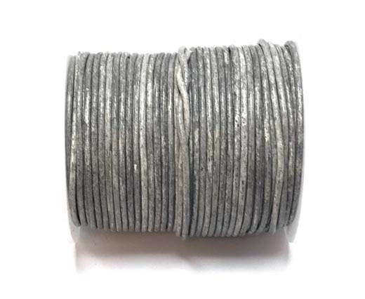 Round leather cord-2mm- Vintage Grey(026)