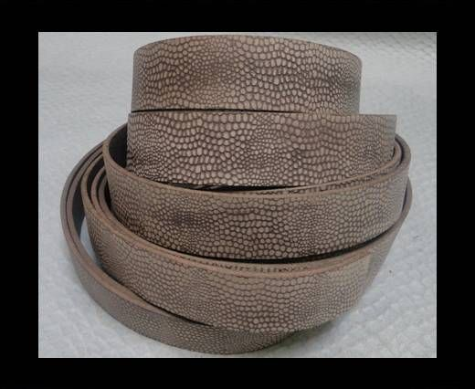 Vintage Style Flat Leather - 20mm-Booty Vintage Taupe