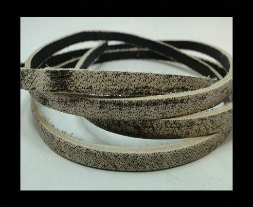 Vintage Style Flat Leather - 5mm-Dark Brown