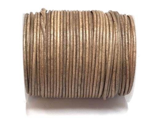 Round leather cord-2mm-SE  Vintage TAUPE