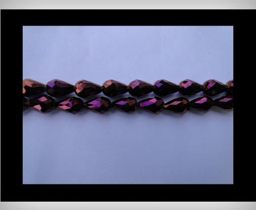 Water Glass Beads -8mm*11mm-Metallic Amethyst
