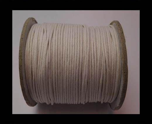 Wax Cotton Cords - 1,5mm - White