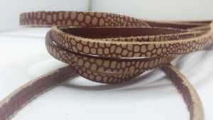 Flat Vintage Leather - 5mm - Booty Red
