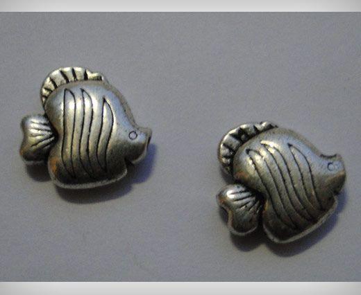 Zamac Silver Plated Beads CA-3098