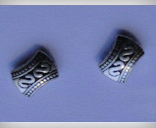 Zamac Silver Plated Beads CA-3105