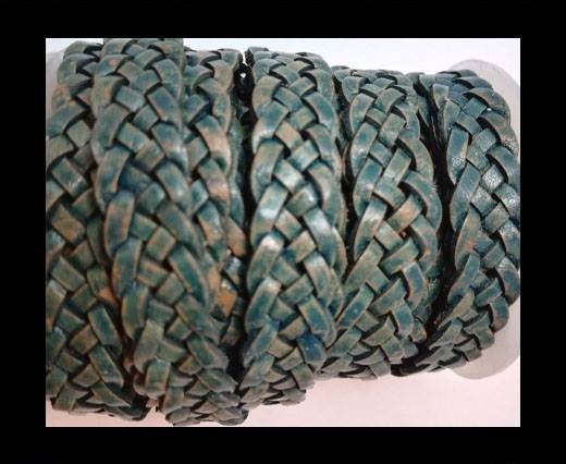 10mm Flat Braided- SE PB 62 - 5 ply braided Leather Cords
