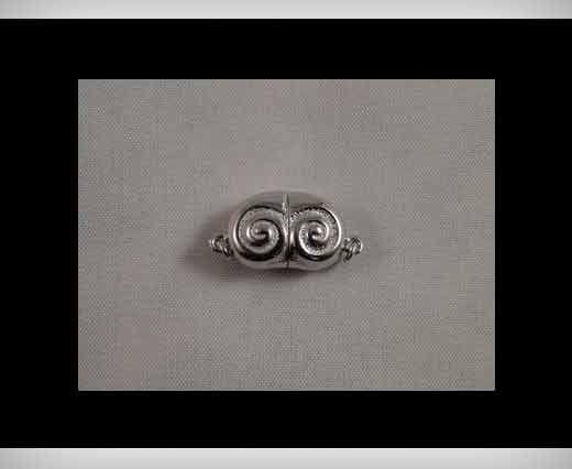 925 Sterling Silver Magnetic Locks SSMG-09