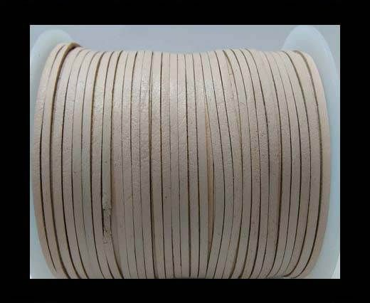 Flat Leather Cords - Cow -width 3mm-27407 - Natural