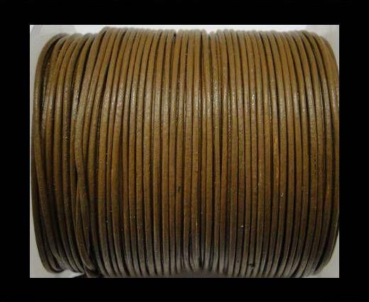 Round Leather Cord  - Hazelnut - 1mm