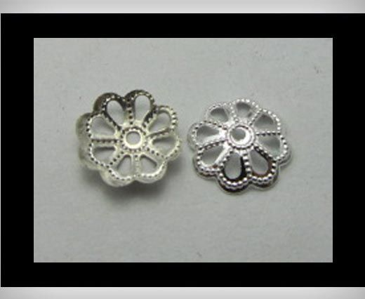 Bead Caps FI7018-Silver