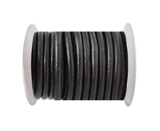 Round leather Cords - 10mm - black