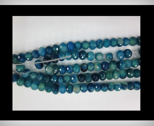Blue Shade Oval  Agate NS-040