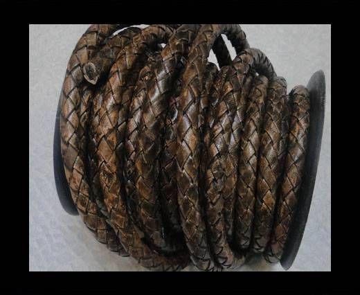 Breided Leather Cord 8 mm SE PB 11