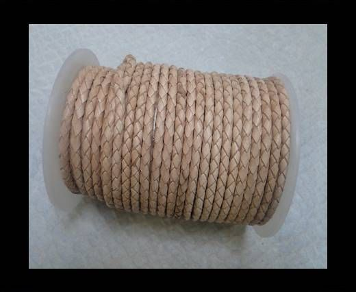 Breided Leather cords 4 mm natural