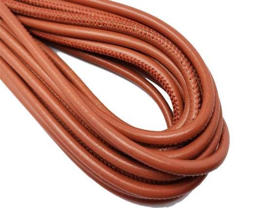 Round Stitched Nappa Leather Cord-4mm-brick