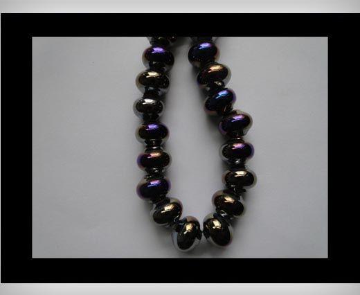 Ceramic Beads -Black-AB