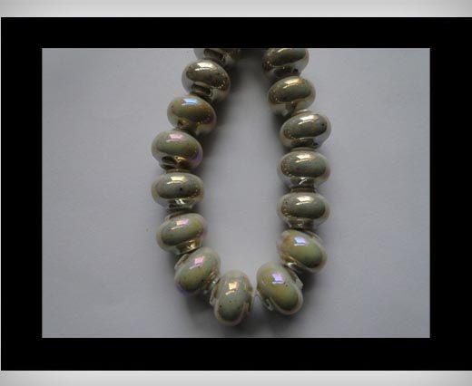Ceramic Beads -Beige-AB