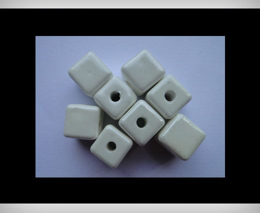 Cube-14mm-White