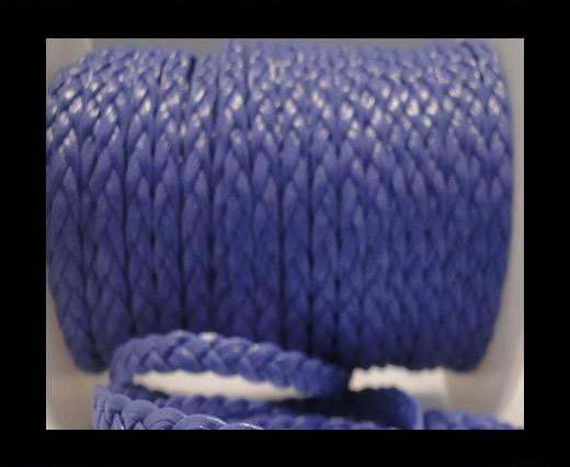 Cuir éco plat tressé - 5mm - Violet clair