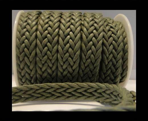 Corde éco plate tressée - Special style - 16mm - Vert militaire