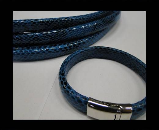 Real Regaliz-Leather-Snake Style 2-10mm*6mm-Blue