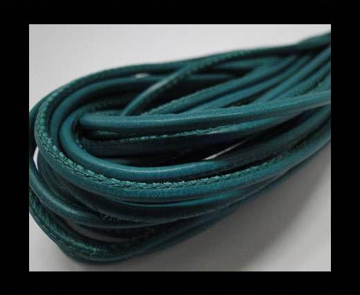 Fine Nappa Leather Round plain style -Sea blue-2,5mm