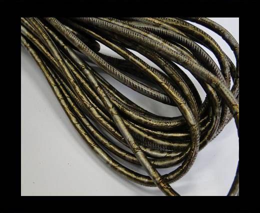 Fine Nappa-Plain-style -Silver-Bronze-6mm