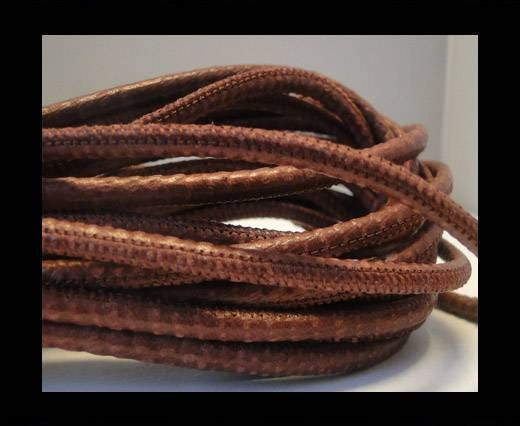 Cuir Nappa raffiné - Snake style - Bordeaux - 4mm