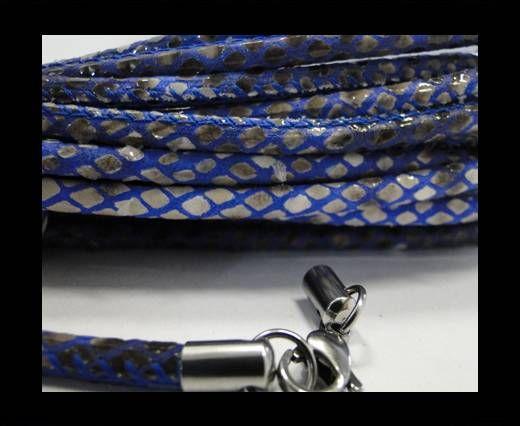 Fine Nappa-Snake-Style -Grey-Blue-4mm