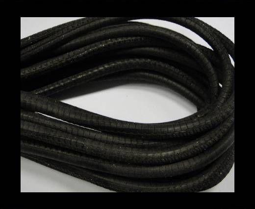 Fine Nappa-Snake style-Dark brown-4mm
