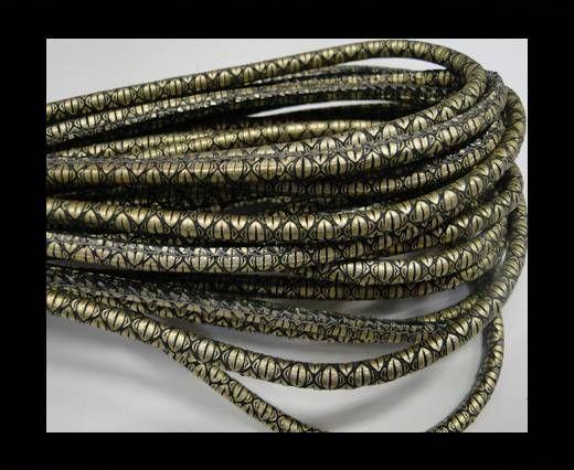 Fine Nappa-Snake style-Gold grey-4mm