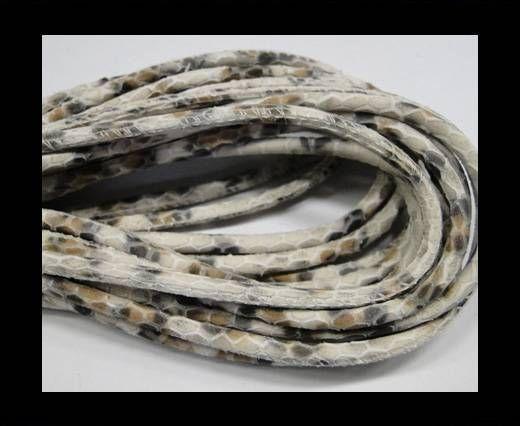 Fine Nappa-Snake style-Ivory grey beige-4mm