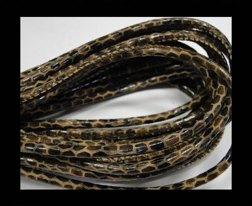 Fine Nappa-Snake style-Mahony brown-4mm